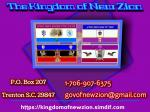 The Kingdom and Government of New Zion